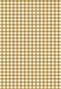 5 x A4 Brown Gingham Card Stock, Size:- Large - GING20